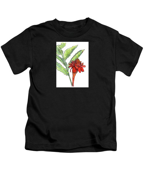 Red Torch Ginger Kids T-Shirt