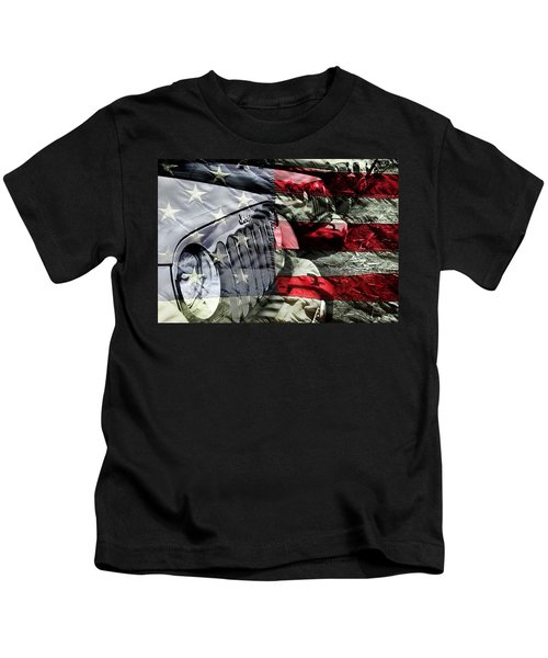 Red White And Jeep Kids T-Shirt