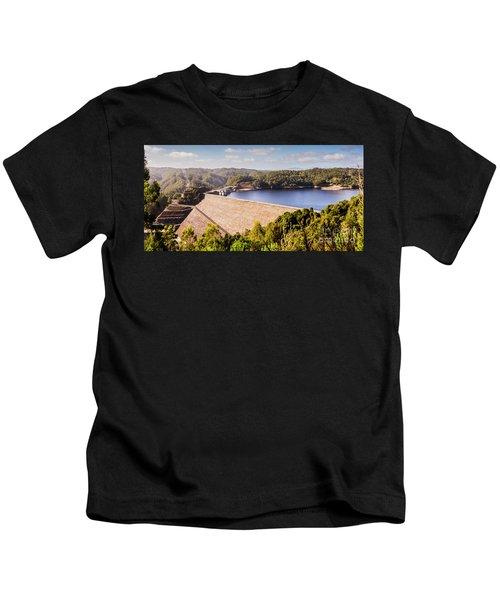 Reece Dam, Western Tasmania Kids T-Shirt