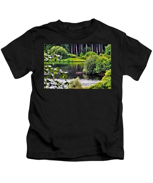 Reflections On Kielder Water Kids T-Shirt