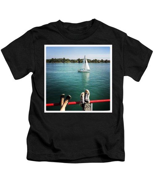 Relaxing Summer Boat Trip Kids T-Shirt