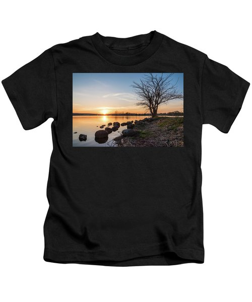 Reservoir Sunset Kids T-Shirt