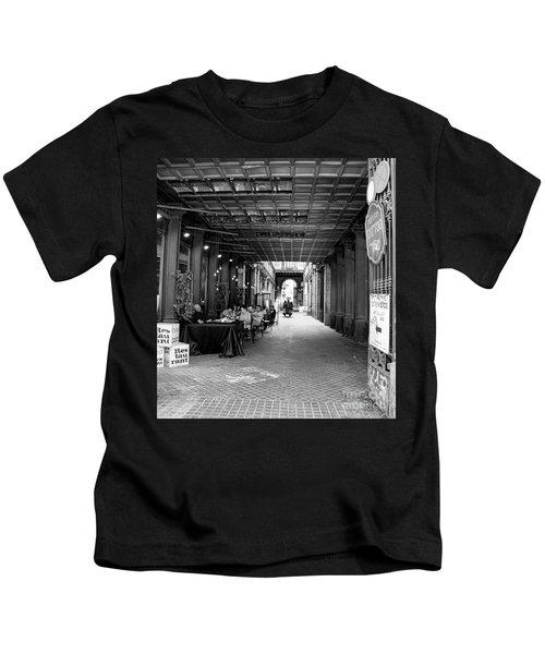 Restaurant Path Barcelona Bw Kids T-Shirt