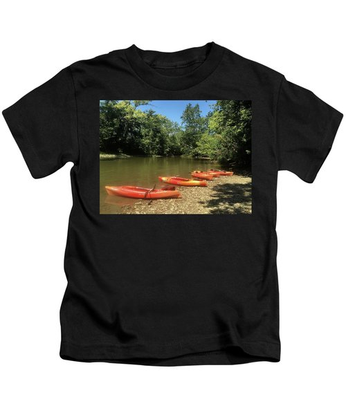 Resting Kayaks Kids T-Shirt