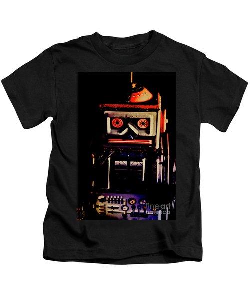 Retro Mechanical Robotics Kids T-Shirt