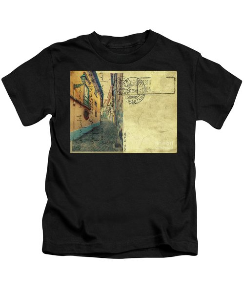 retro postcard of Porto, Portugal  Kids T-Shirt
