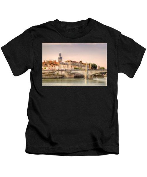Bridge Over The Rhone River, France Kids T-Shirt
