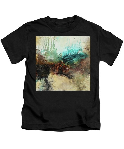 Rich Earth Tones Abstract Not For The Faint Of Heart Kids T-Shirt