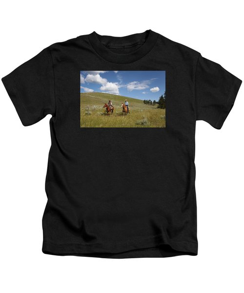 Riding Fences Kids T-Shirt