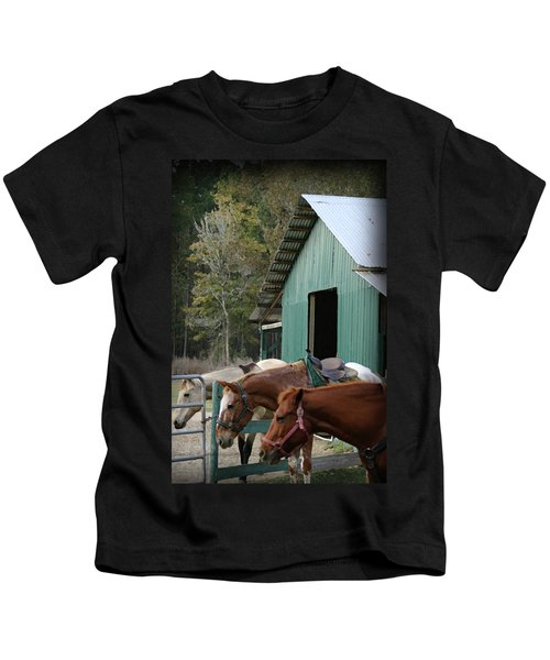 Riding Horses Kids T-Shirt