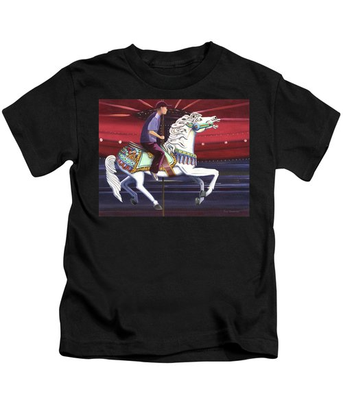 Riding The Carousel Kids T-Shirt