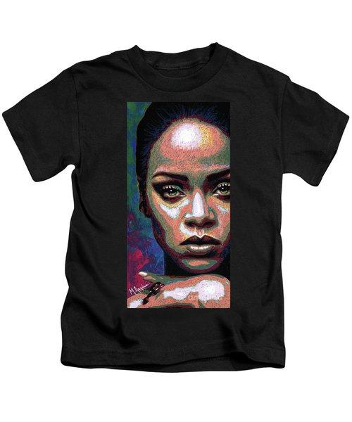 Rihanna Kids T-Shirt by Maria Arango