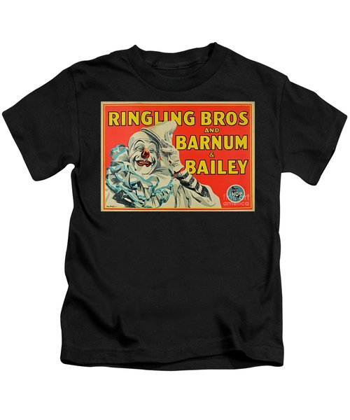 Ringling Brothers Clown Poster Kids T-Shirt
