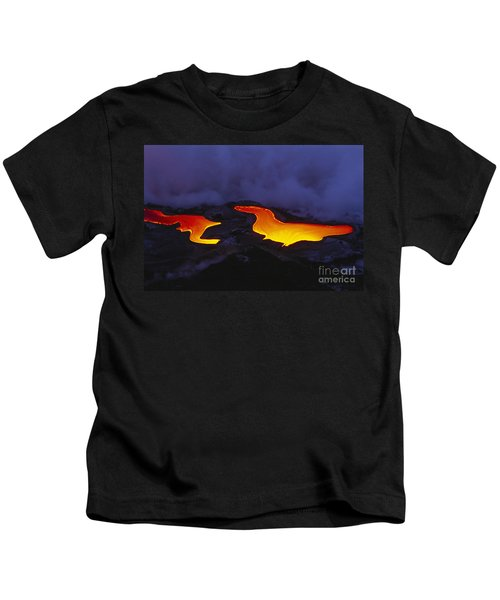 River Of Lava Kids T-Shirt by Peter French - Printscapes