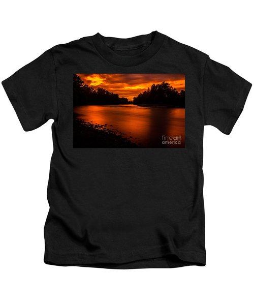 River Sunset 2 Kids T-Shirt