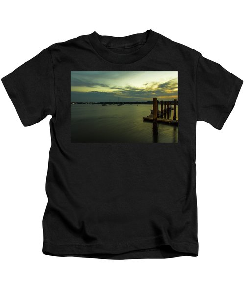 River Sunset  Kids T-Shirt