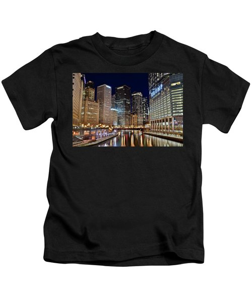 River View Of The Windy City Kids T-Shirt