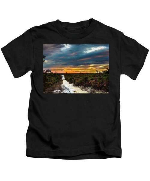 Road Into The Pinelands Kids T-Shirt