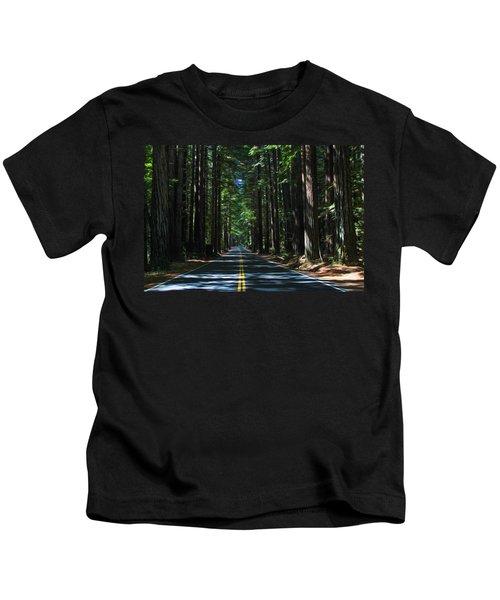 Road To Mendocino Kids T-Shirt