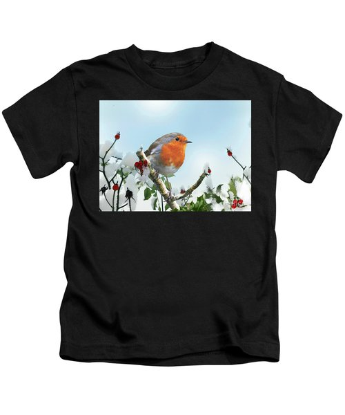 Robin In The Snow Kids T-Shirt