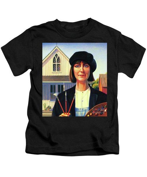 Robin Wood Self-portrait Kids T-Shirt