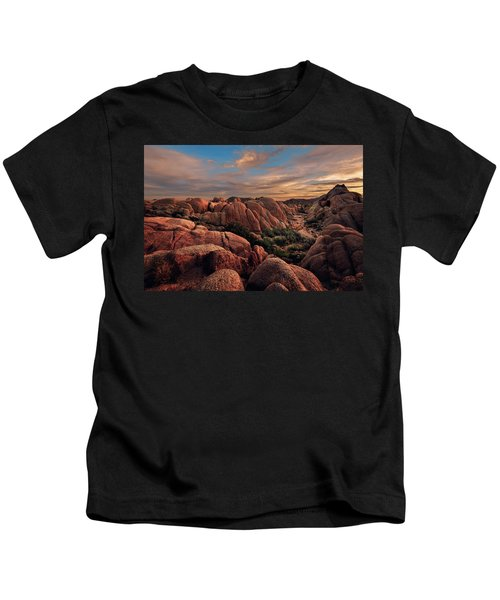 Rocks At Sunrise Kids T-Shirt