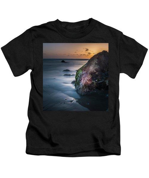 Rocks At Sunset Kids T-Shirt