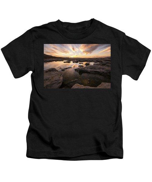 Rocky Shores Of Utah Lake Kids T-Shirt