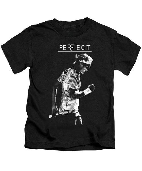 Roger Federer Silhouette Kids T-Shirt