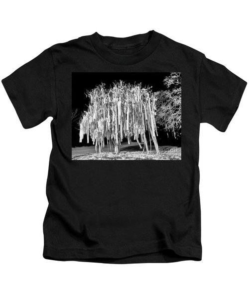 Rolled Tree Blk N White Kids T-Shirt