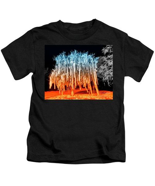 Rolled Tree Orangenblue Kids T-Shirt