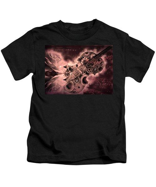 Romantic Stemapunk Violin Music Kids T-Shirt