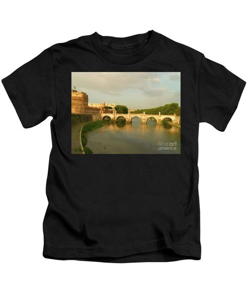Rome The Eternal City And Tiber River Kids T-Shirt