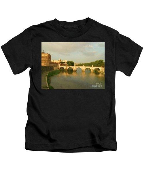 Rome The Eternal City And Tiber River Kids T-Shirt