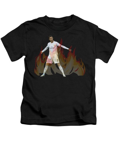 Ronaldo Kids T-Shirt by Vincenzo Basile