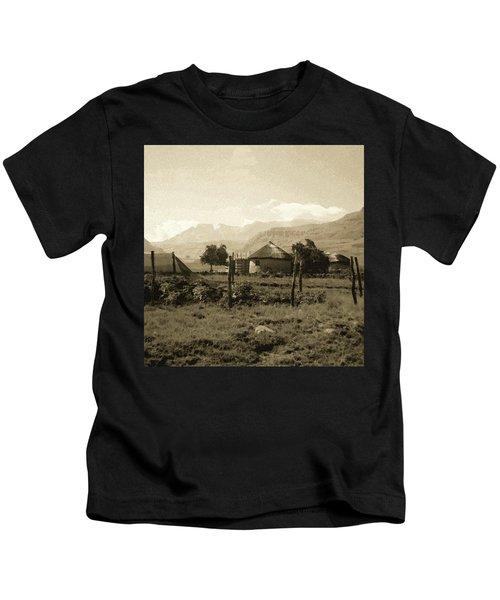 Rondavel In The Drakensburg Kids T-Shirt