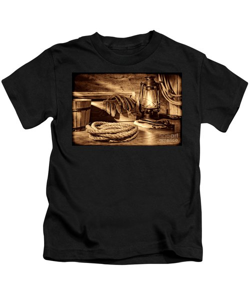 Rope And Tools In A Barn Kids T-Shirt
