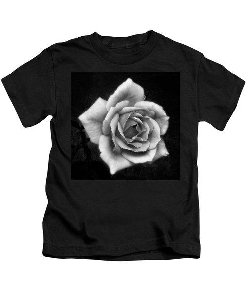 Rose In Mono. #flower #flowers Kids T-Shirt