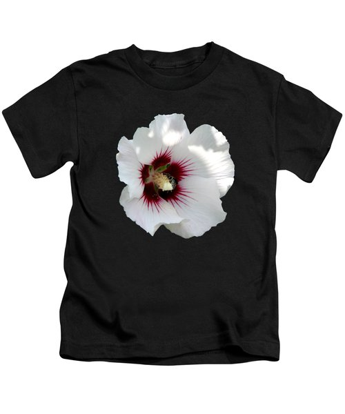 Rose Of Sharon Flower And Bumble Bee Kids T-Shirt