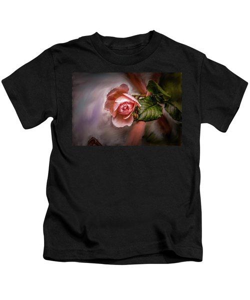 Rose On Paint #g5 Kids T-Shirt