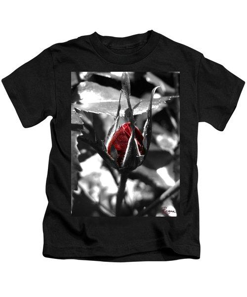 Rosebud Red Kids T-Shirt