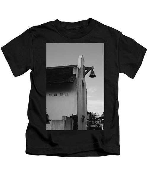 Rosemary Beach Post Office In Black And White Kids T-Shirt