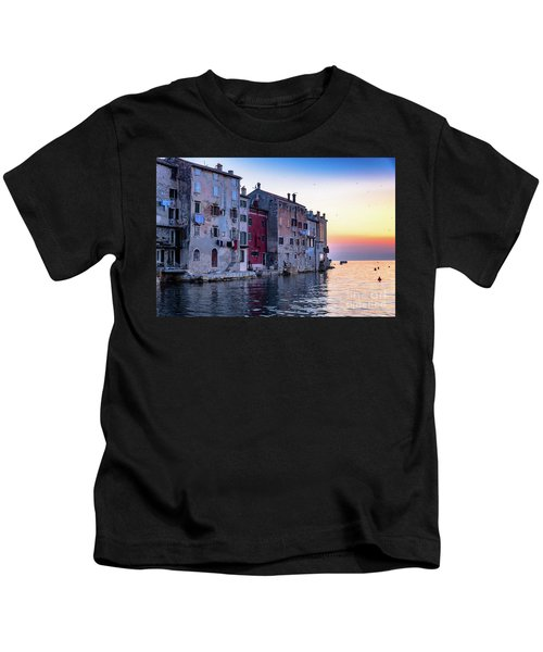 Rovinj Old Town On The Adriatic At Sunset Kids T-Shirt