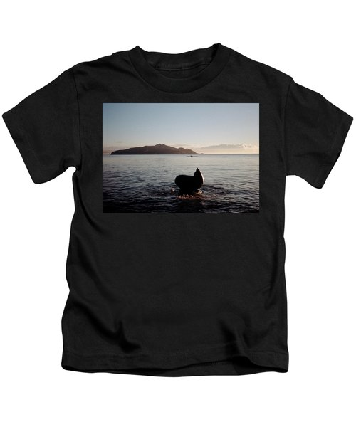 Rowing Off Sausalito, Ca Kids T-Shirt