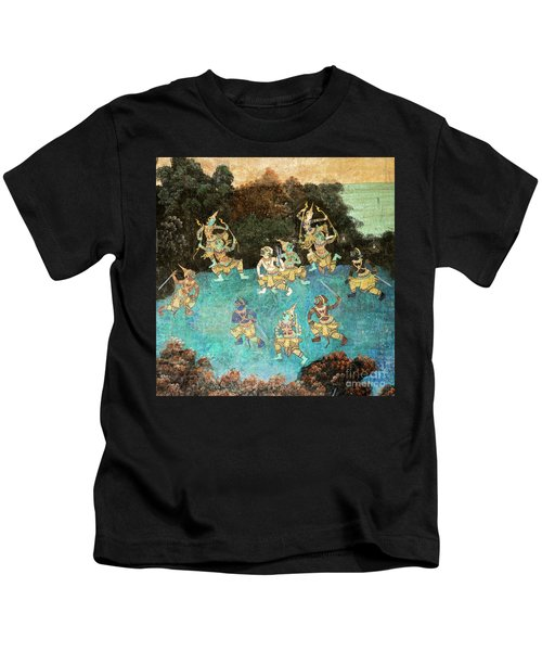 Royal Palace Ramayana 16 Kids T-Shirt