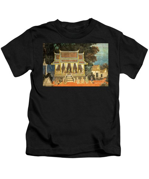 Royal Palace Ramayana 18 Kids T-Shirt