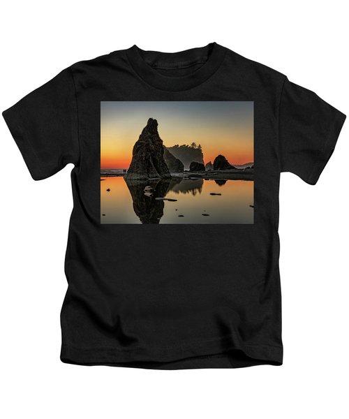 Ruby Beach At Sunset Kids T-Shirt