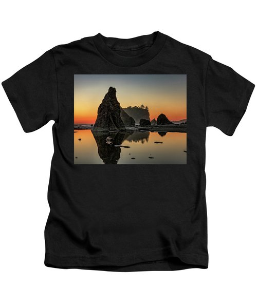 Ruby Beach At Sunset Kids T-Shirt