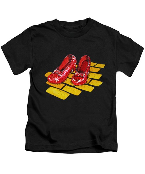 Ruby Slippers The Wonderful Wizard Of Oz Kids T-Shirt