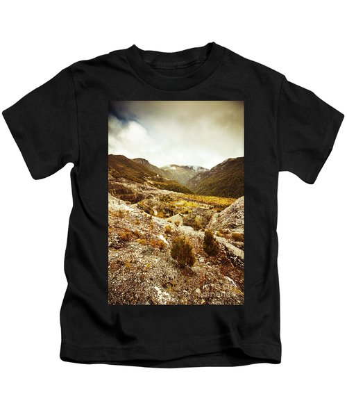 Rugged Valley Wilderness Kids T-Shirt